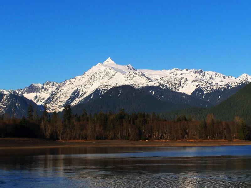 Baker Lake with view of Mt Shuksan, Washington