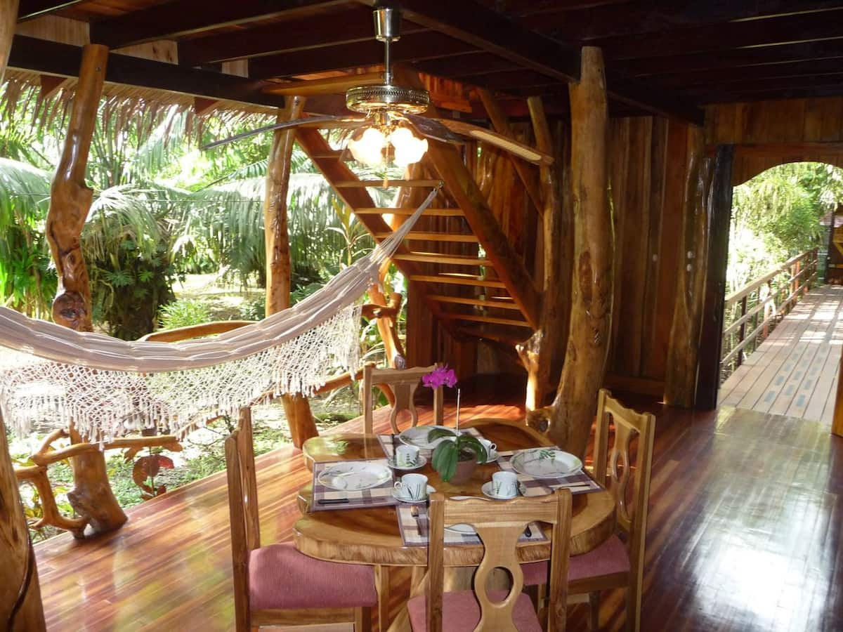 Dining area at Caribbean Tree House