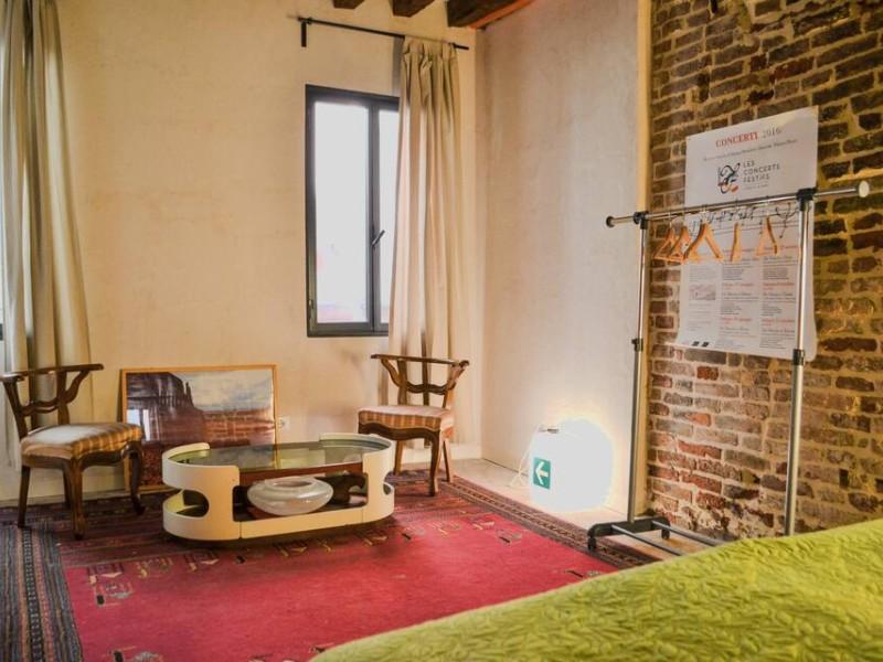 Interior of Giudecca Submarine Artist House in Venice