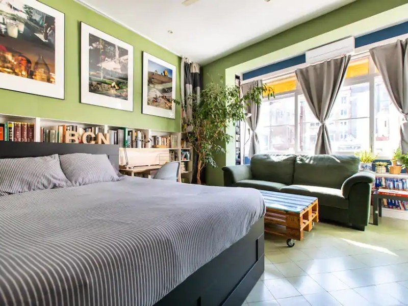 Bedroom at Great Place in Large Studio in Central Barcelona