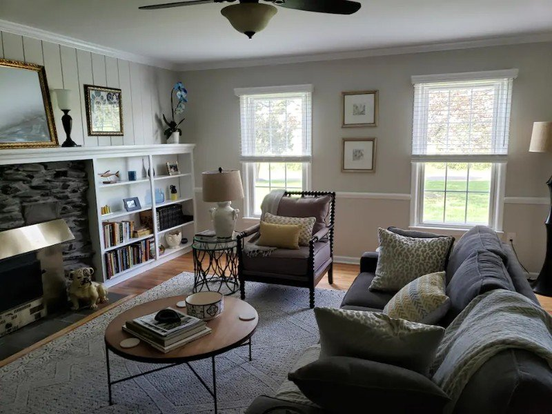 Living space at Princeton Country Charm Private Room