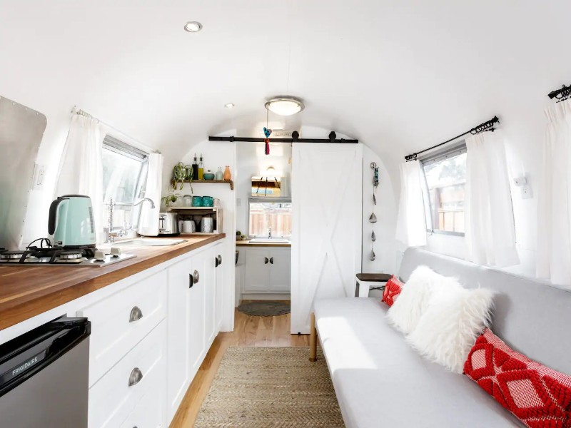 Private Retreat in a 1967 Airstream on the Coast