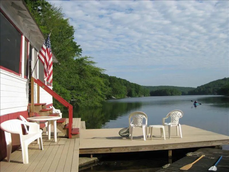 Water view at Quiet & Cozy Lake Cottage, 10 minutes to Mystic
