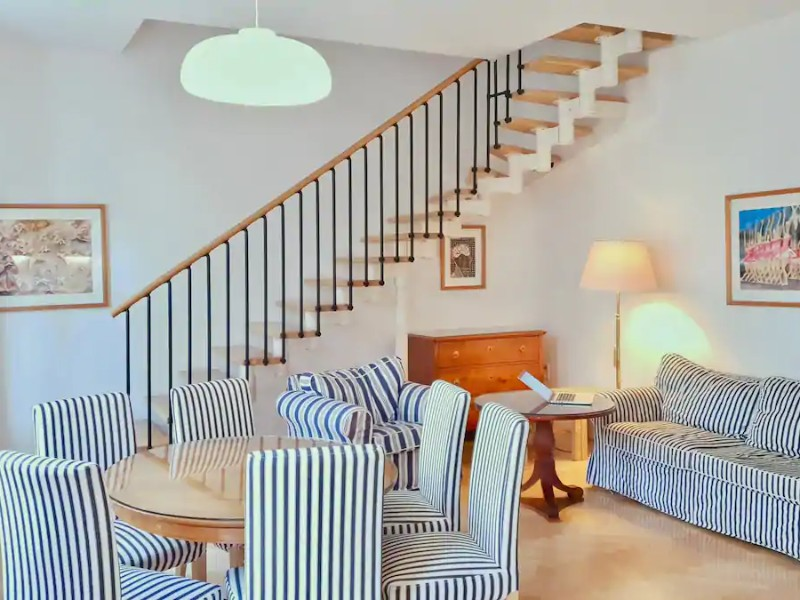 Staircase view at Quiet Green Oasis – 150-Year House in Hip Area