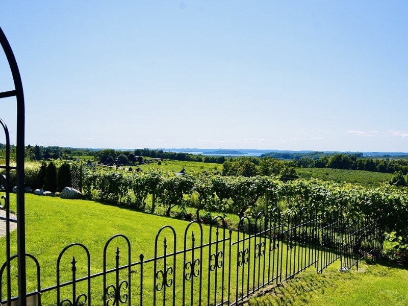 Scenic view from Chateau Chantal Winery, Michigan