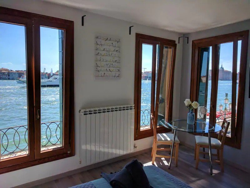 Windows at Stunning Studio with Canal Views