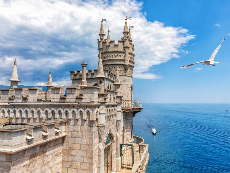 The Swallow`s Nest castle in Gaspra, Crimea, Ukraine