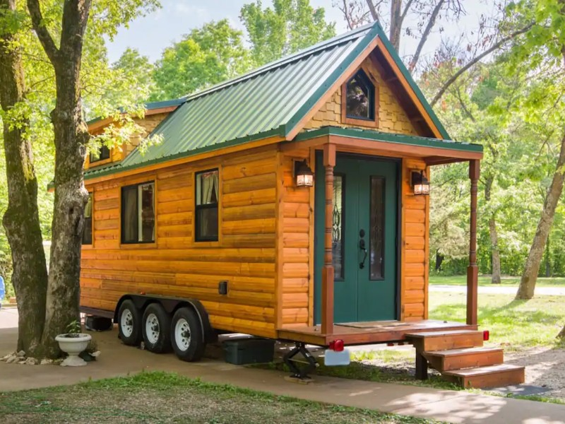 Exterior of Tiny House on a Sustainable Farm