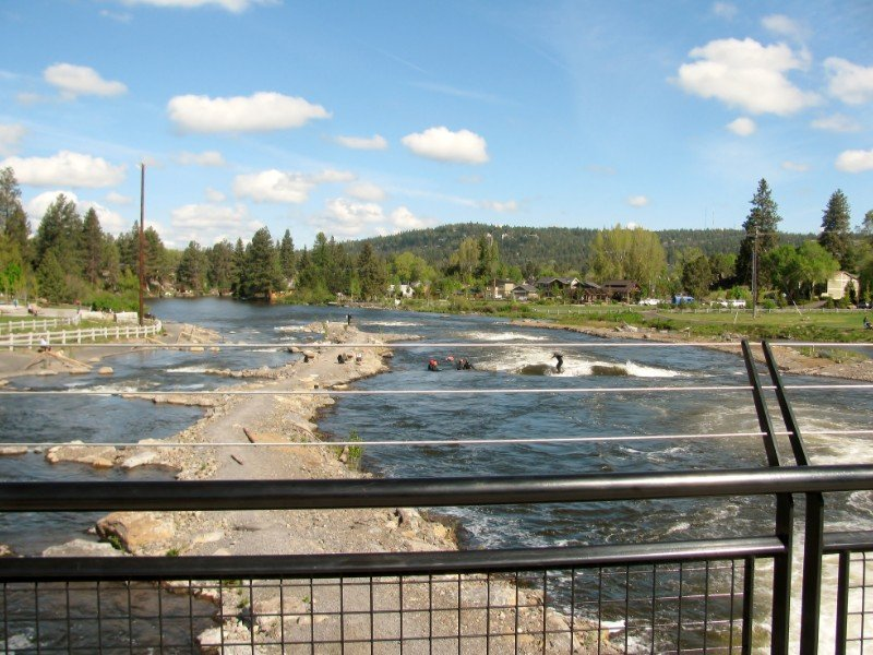 Whitewater recreation park in Bend, Oregon