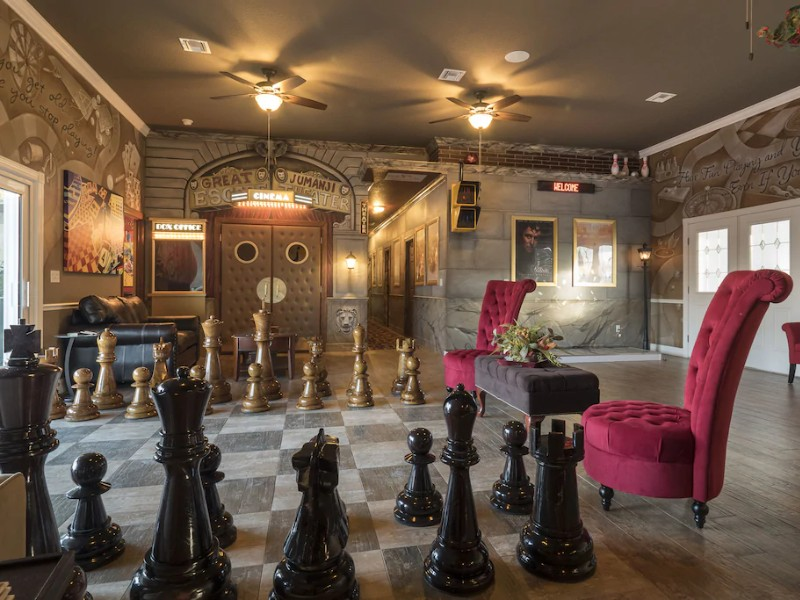 13 Bedroom with Giant Chessboard, Movie Theater & Lazy River
