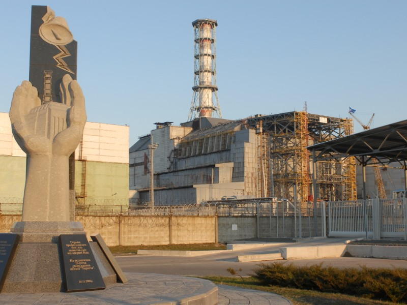A Monument in Chernobyl Nuclear Power Plant