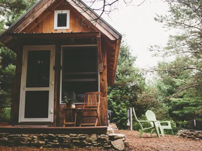 Exterior of Tiny House, Simple Getaway In NoMich