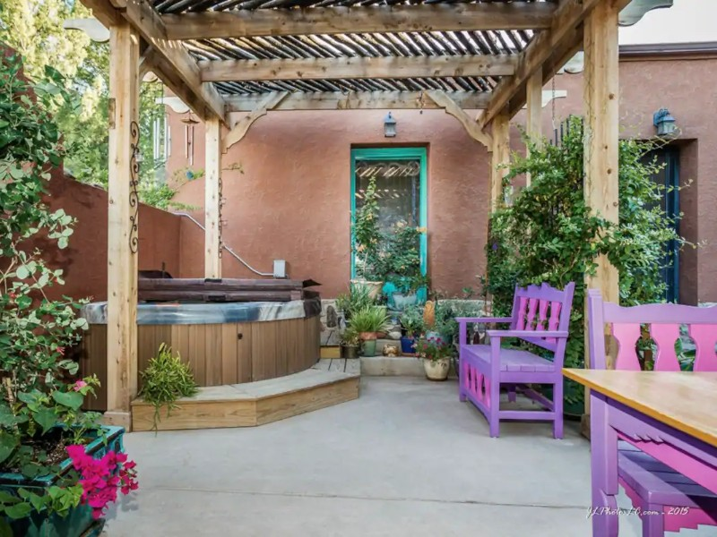 Outside Space at Charming Casita with Patio & Hot Tub