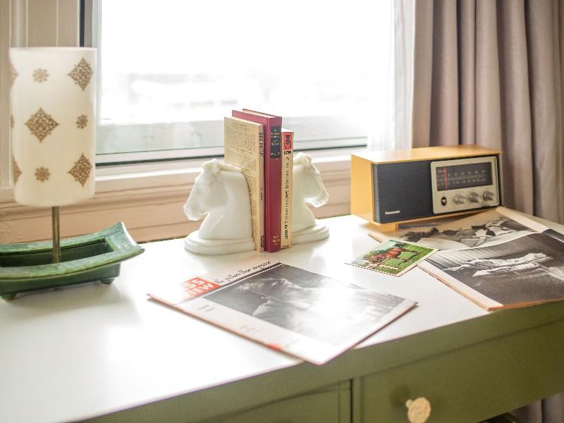 desk in Queen's Gambit room