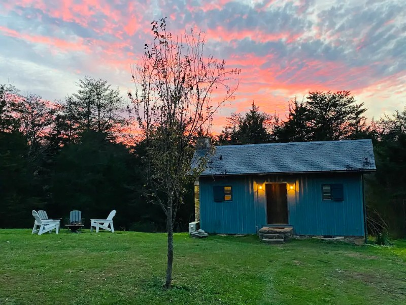 Sunset at Eclectic Tiny House on a Peaceful & Inclusive Farm
