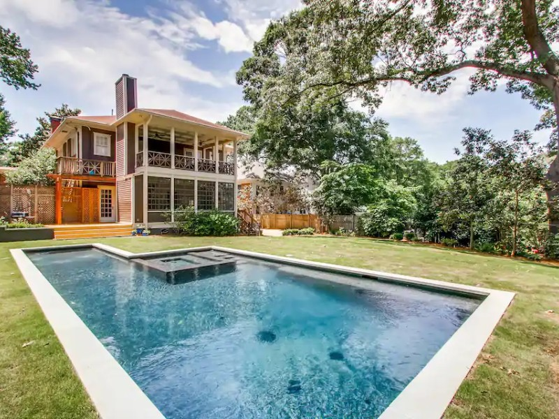 Pool at Family Retreat with Home Office + Beltline Access