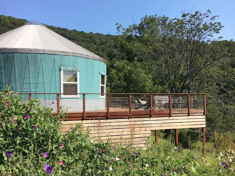 Luxe Yurt with Hot Tub in Heart of the Blue Ridge