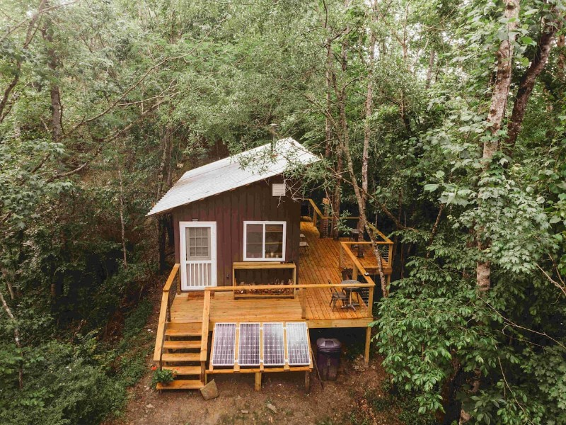 REMOTE Off-Grid Tiny House | Hiking | Fishing