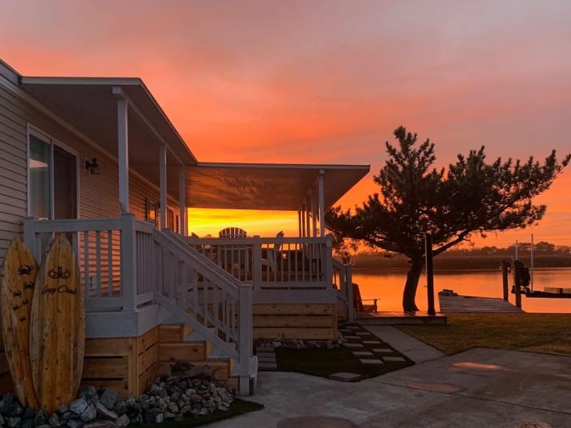 Sunset at Sandbridge Beach - The Lazy Crab Tiny House