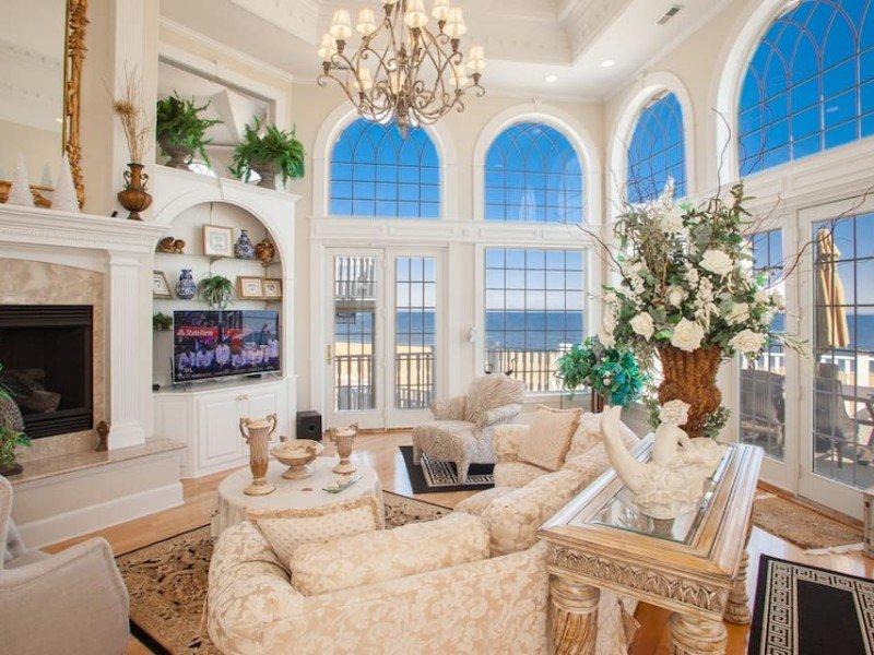 Living Space Inside Seaside Sanctuary Oceanfront