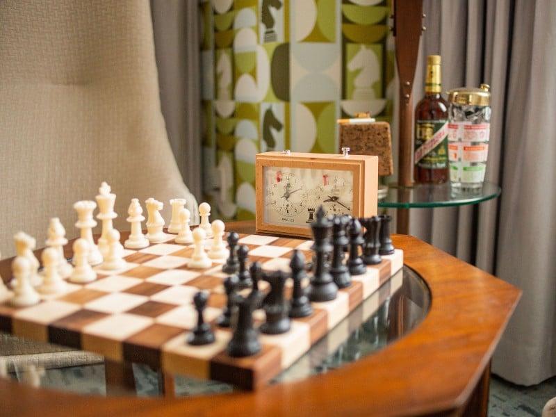 Chessboard Queen's Gambit Room