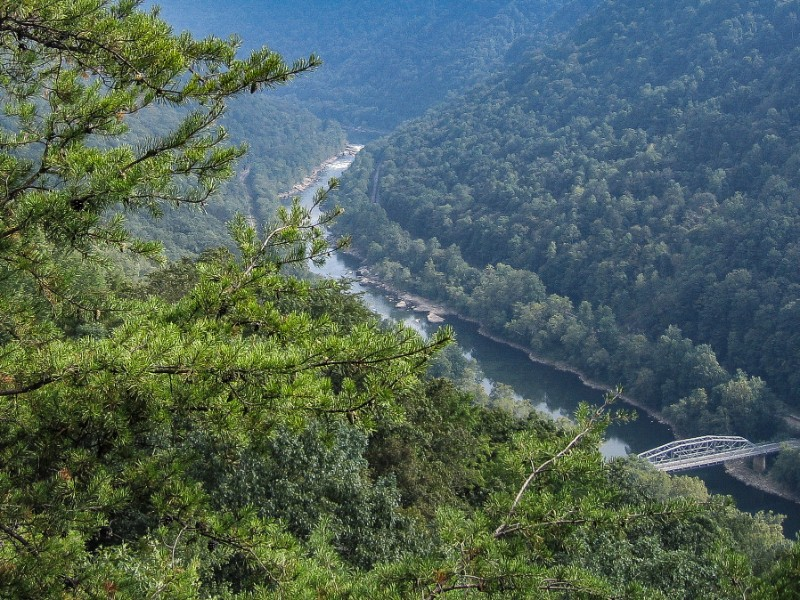 Looking out over the New River Gorge in West Virginia
