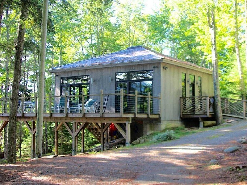 Acadia Long Pond Waterfront 75 ft to Dock Modern Cottage Sleeps 5