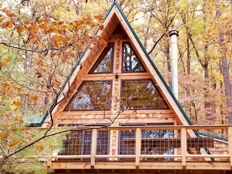 A-Frame Cabin Escape in GW Natl Forest Lost River