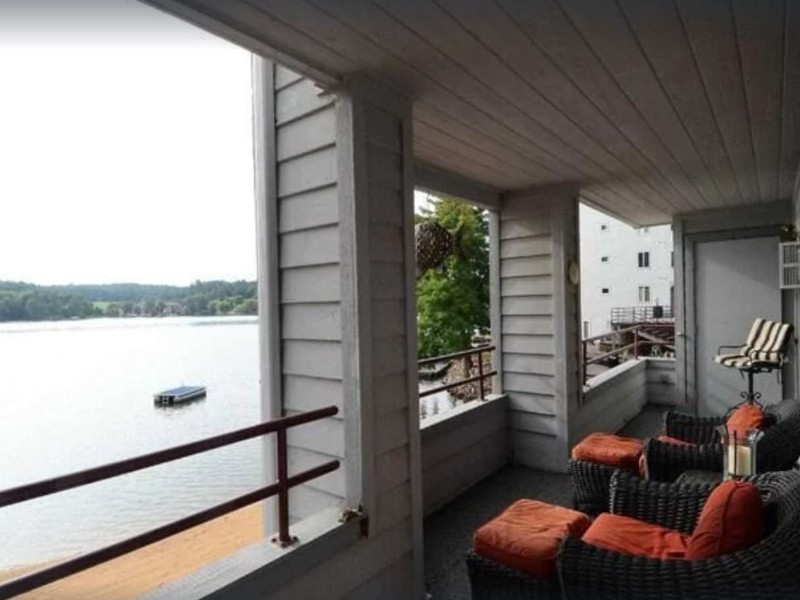 View from Beachfront, Modern/Rustic Condo on Lake Delton