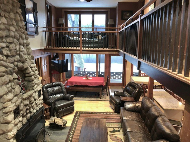 Interior of Five-Star Acre+ Sprawling Rock River Lakefront Home