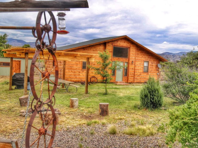 Outdoor Space at Gila Cabin in the Land of Enchantment