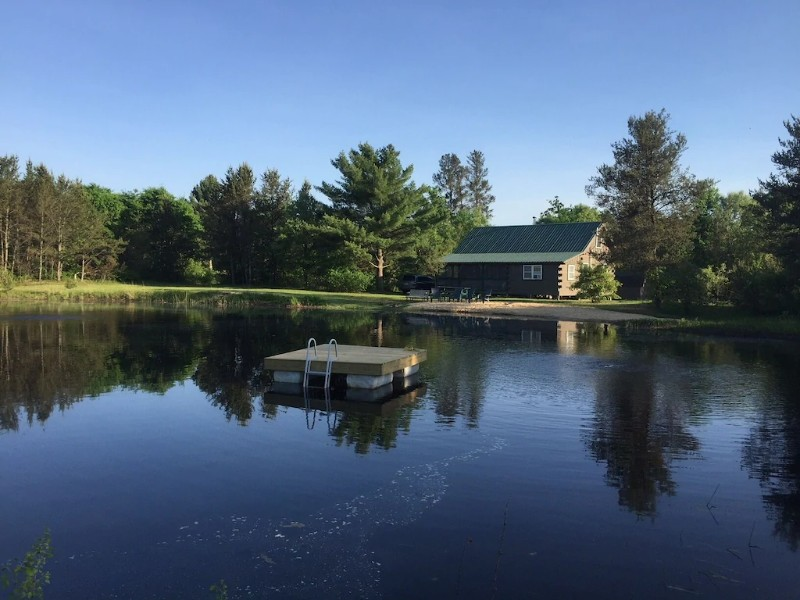Water View at Secluded Family-Friendly Log Cabin