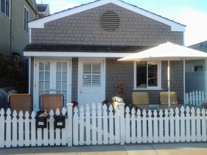 Front of Upgraded Charming Beach Cottage