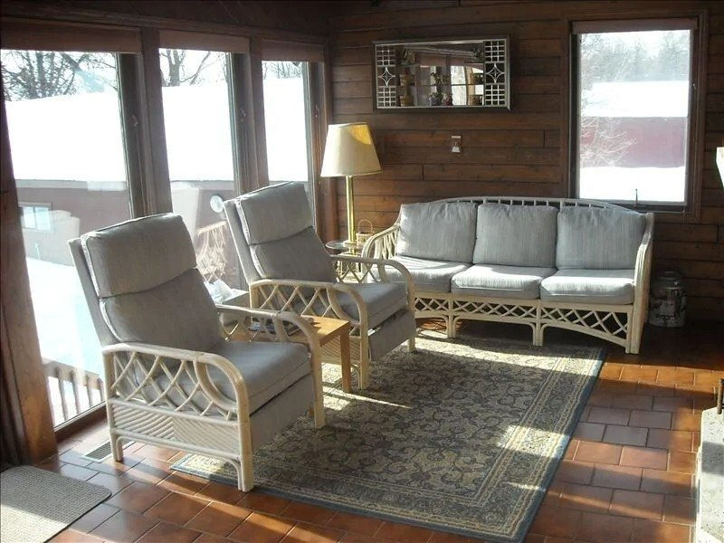 Seating at Larger Home with Privacy and Scenic Views