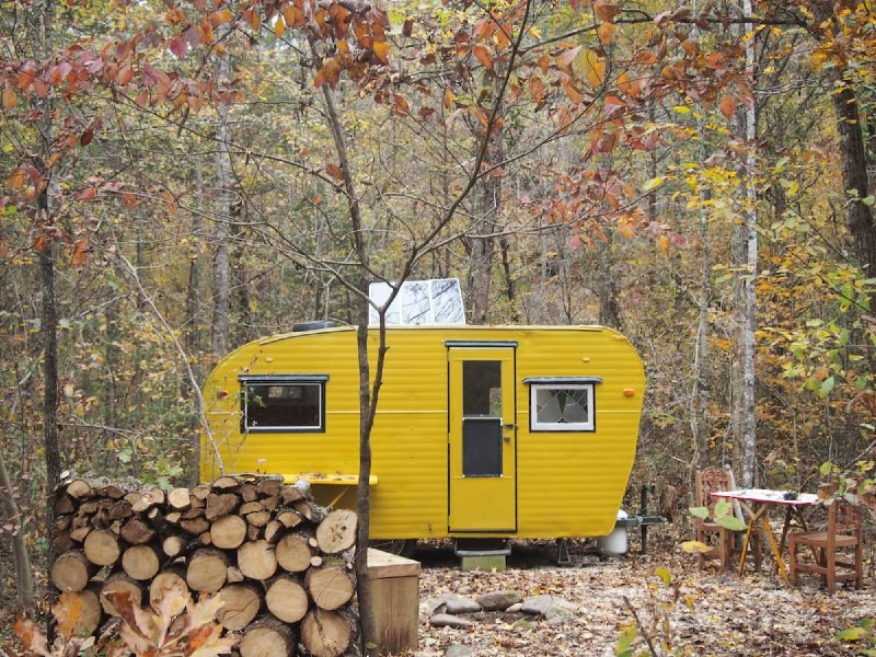 Camp Grits Solar Yellow Camper