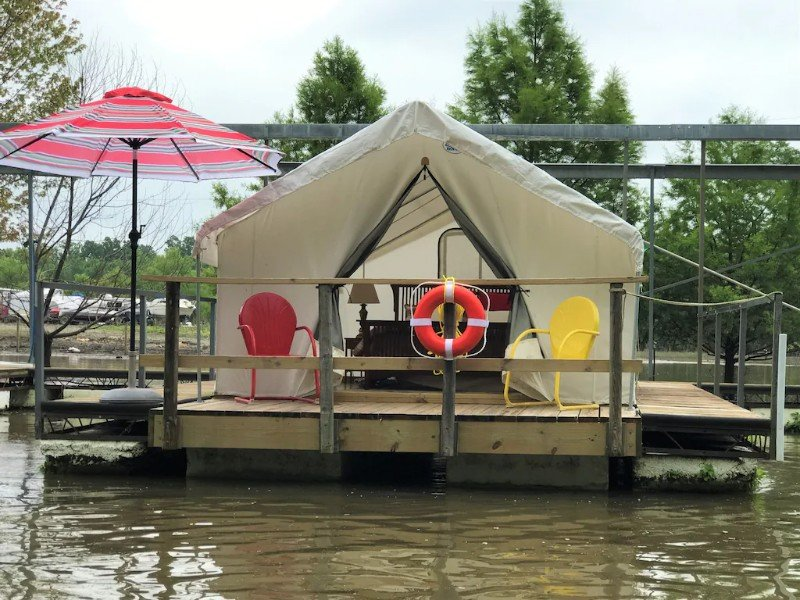 Water View at Floating Glamping Tent