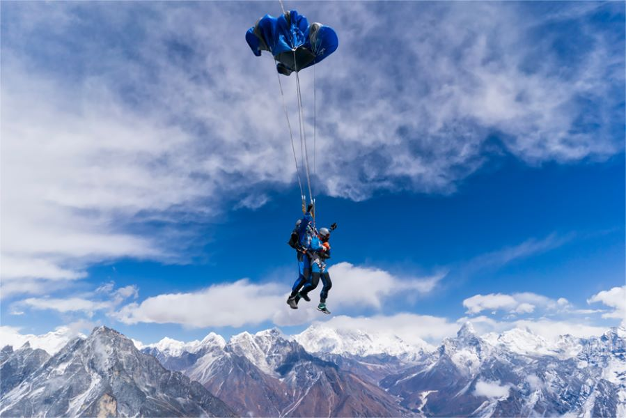Skydiving over Mount Everest