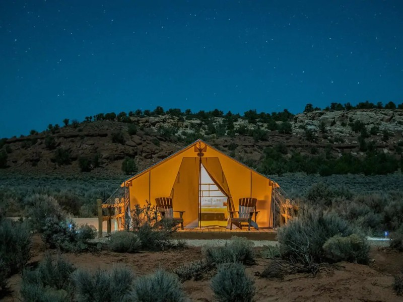 Hayduke Tent at BaseCamp37° - Kanab, Utah