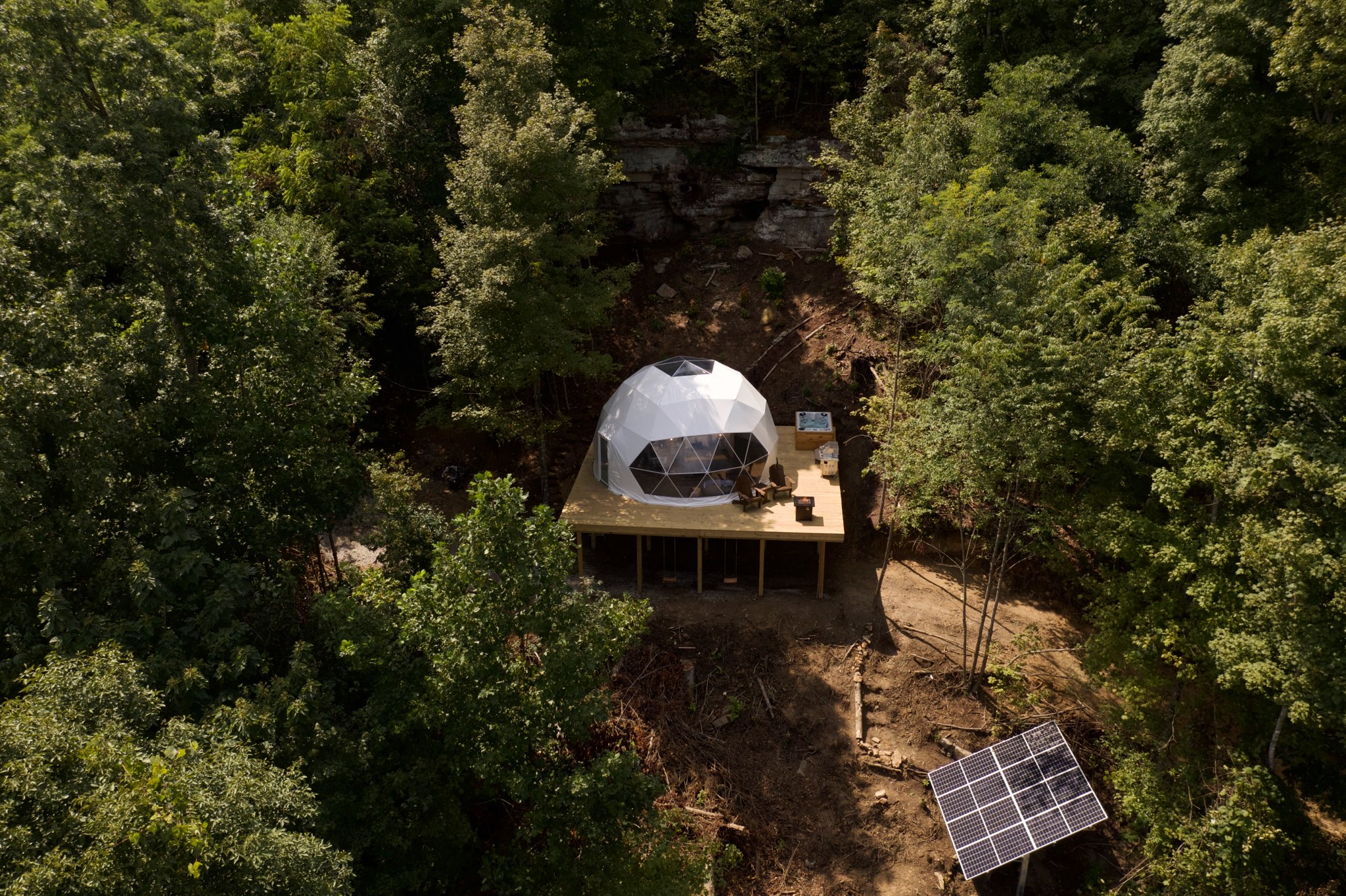 Luxury Glamping Geodesic Dome
