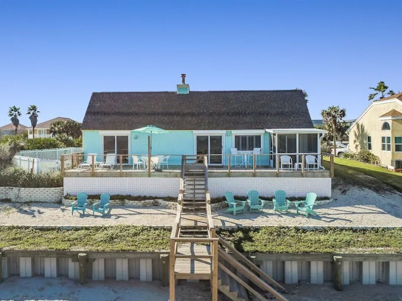 Oceanfront Level Home with Beach Views - Ponte Vedra Beach