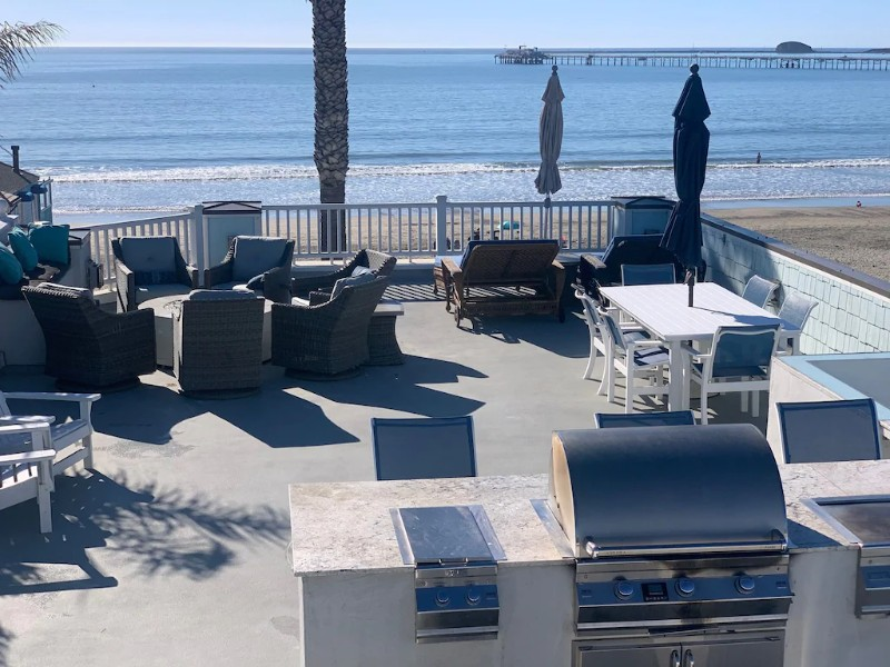 Outdoor Space at Beachfront Multi-Million Dollar Home