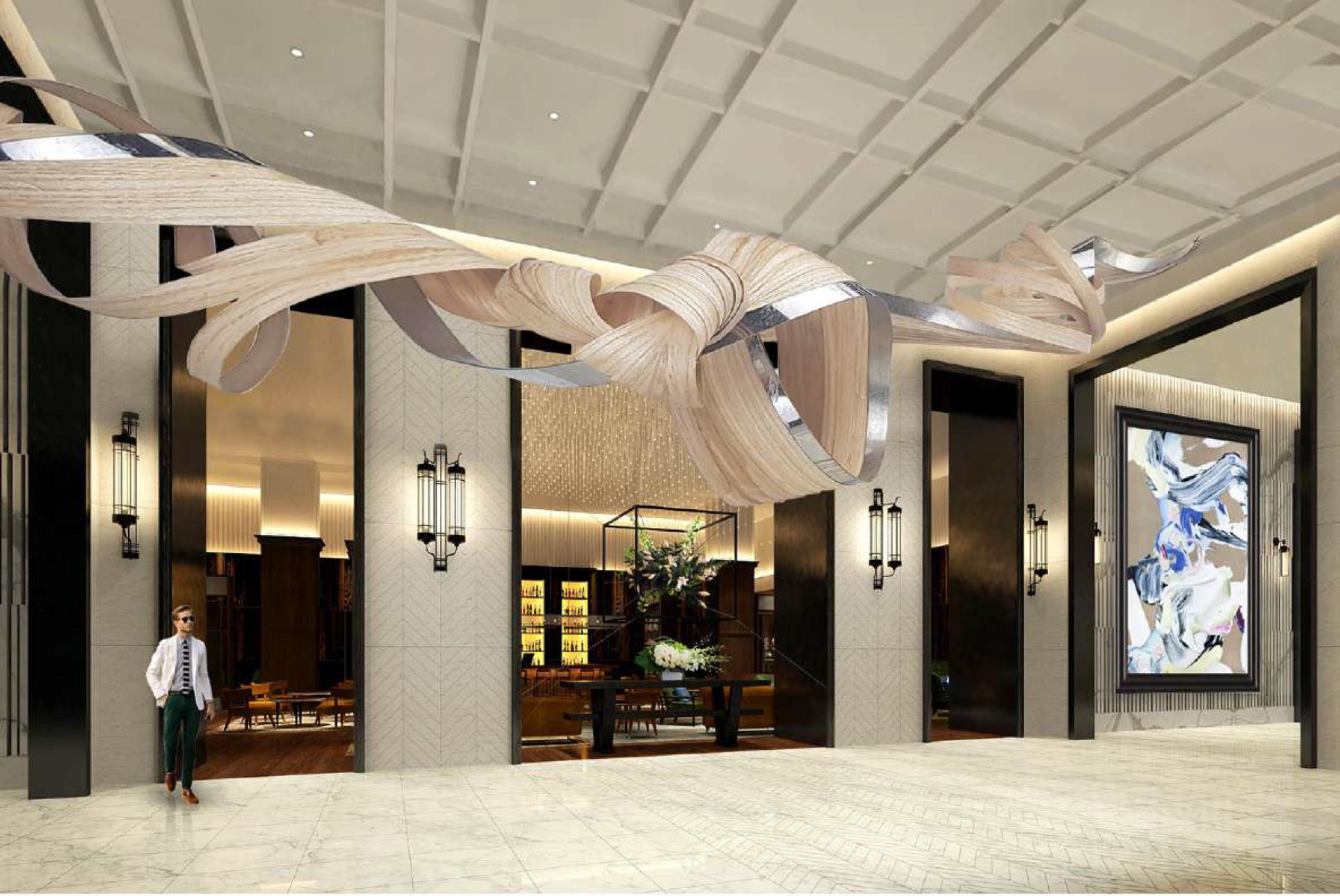 Lobby of Park Hyatt London River Thames at Nine Elms
