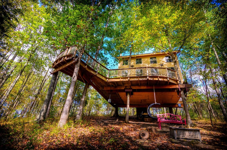 Treehouse Off Grid Built By Pete