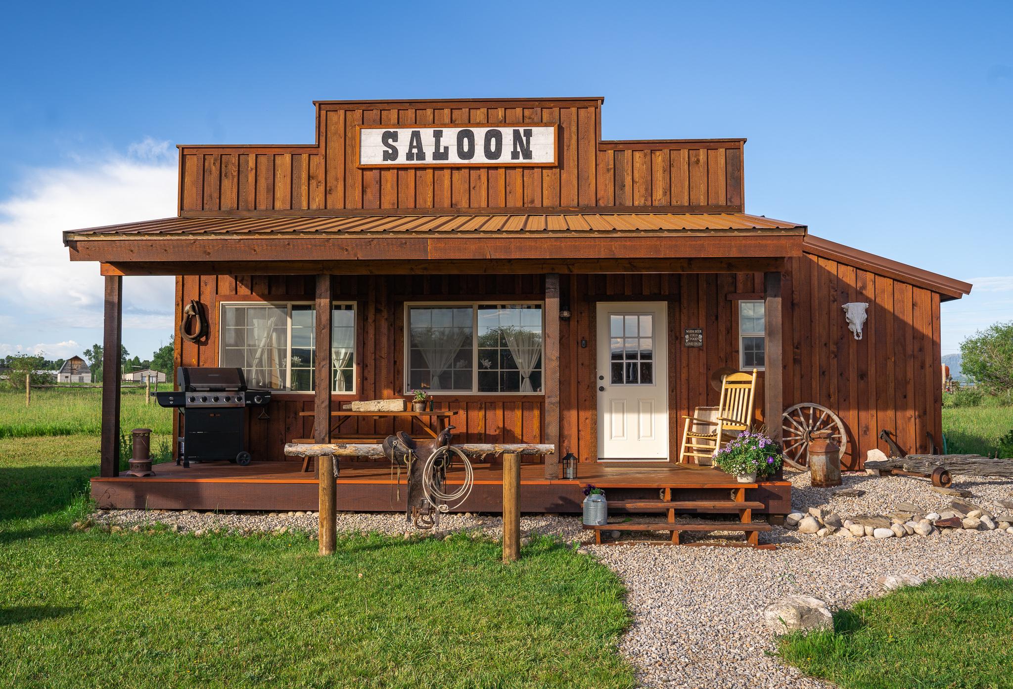 Western Saloon with Teton Views