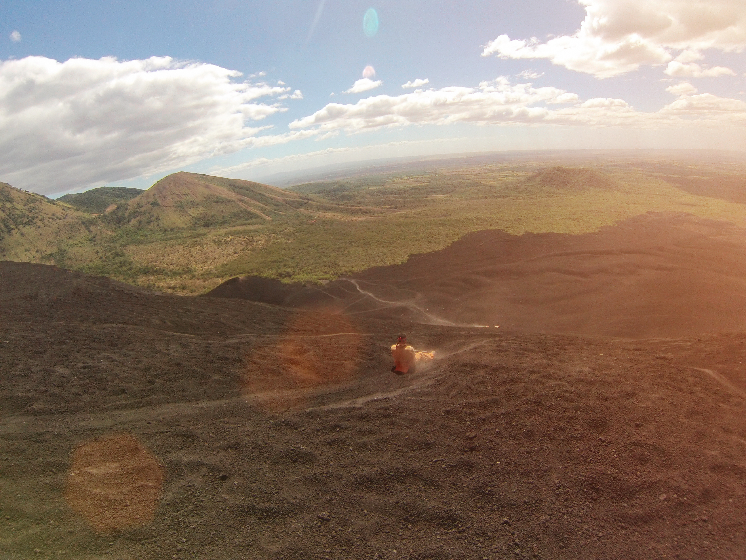 Boarding down a volcano in Nicaragua
