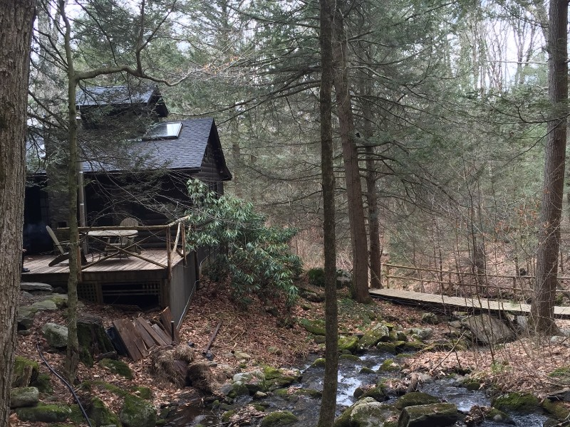 Secluded Cabin with Babbling Brook